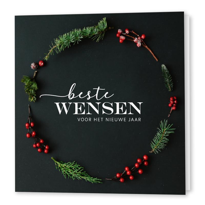 beste wensen, zakelijke kerstkaart, luxe envelop